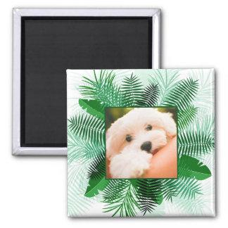 Votre photo dans un aimant en feuille de palmier