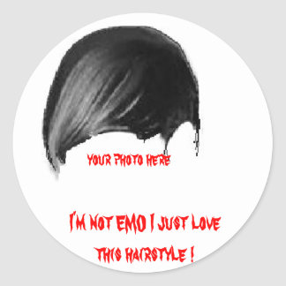 votre photo ici, je ne suis pas amour d'EMO I Adhésifs Ronds