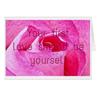 Votre première passion devrait être vous-même cartes