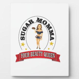 votre reine de beauté photo sur plaque
