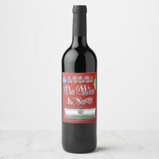 Votre vin de Noël de marque ou étiquettes de