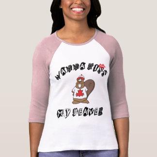 Voulez embrasser mon Canadien de castor T-shirt