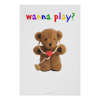 """""""Voulez jouer ?"""" Affiche Posters"""