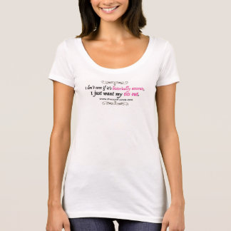 Voulez juste ma chemise blanche de T*ts - T-shirt