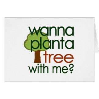 Voulez planter un arbre avec moi carte de vœux