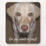 Voulez-vous jouer ? Laboratoire jaune Mousepad Tapis De Souris