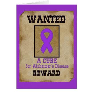 Voulu : Un traitement pour la maladie d'Alzheimer Carte De Vœux