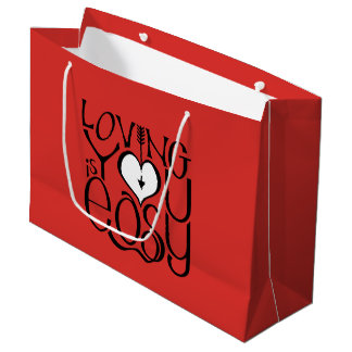 Vous aimant sac blanc rouge de cadeau