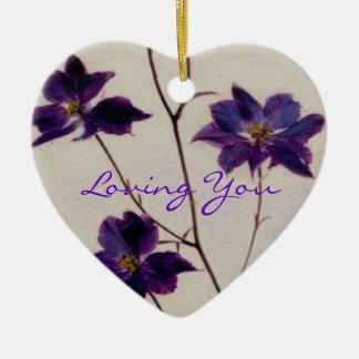 Vous aimer ornement cœur en céramique