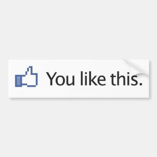 vous aimez des pouces de ce Facebook vers le haut  Autocollant De Voiture