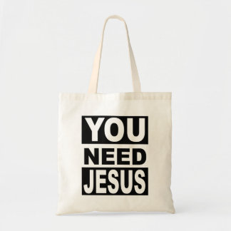 Vous avez besoin de Jésus Sac Fourre-tout