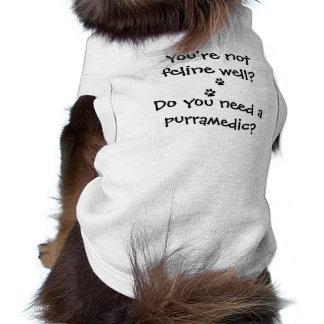 Vous avez besoin d'un dessus de réservoir nervuré t-shirt pour chien