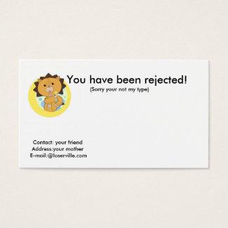Vous avez été rejetés ! , Cont… Cartes De Visite