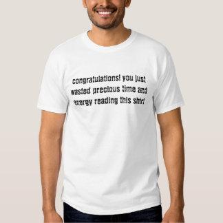 vous avez juste perdu le temps t-shirt