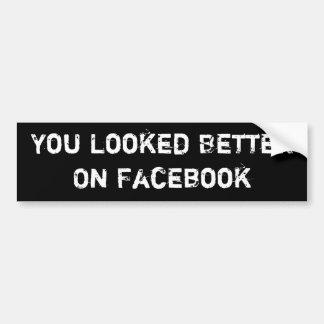 Vous avez semblé meilleurs sur Facebook Autocollant De Voiture