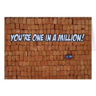 Vous avez un ans dans million ! carte de vœux