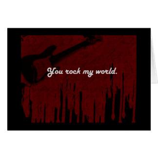 Vous basculez mon monde ! carte de vœux