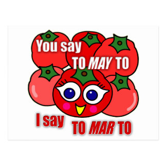 Vous dites À-pouvoir-à, je dis À-mars-à Cartes Postales