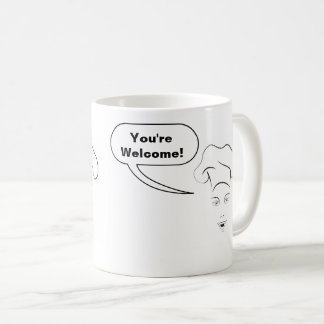 """Vous du chef féminin """"êtes bienvenus !"""" Tasse de"""