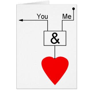 Vous et moi logique nerd de Digitals d'édition Carte De Vœux