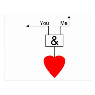 Vous et moi logique nerd de Digitals d'édition Carte Postale