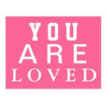Vous êtes aimés - inspirez - motivez - encouragez carte postale