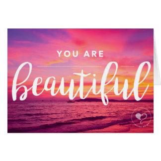 Vous êtes belle enveloppe du carte pour notes W.