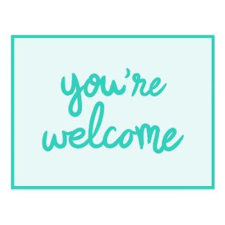 Vous êtes bienvenus ! carte postale