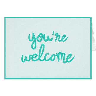 Vous êtes bienvenus ! cartes