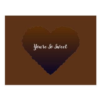 Vous êtes carte postale tellement douce