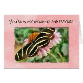 Vous êtes dans mes pensées pendant les traitements carte de vœux