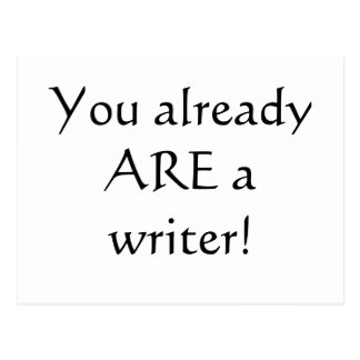 Vous êtes déjà un auteur ! carte postale