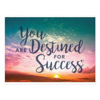 Vous êtes destinés à la carte postale de succès