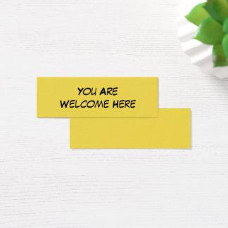 """""""Vous êtes ici"""" la note aimable bienvenue pour Mini Carte De Visite"""
