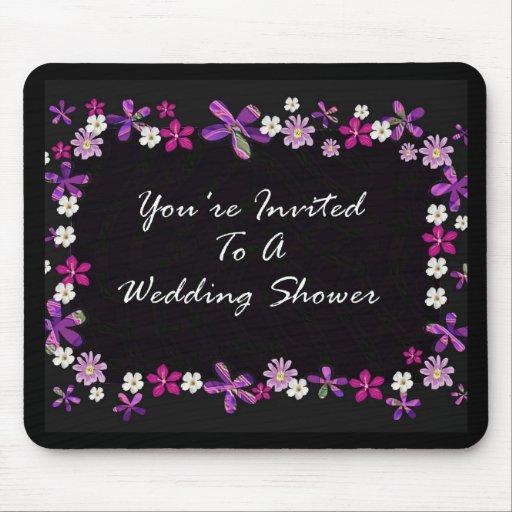 Vous êtes invités à un wedding shower tapis de souris