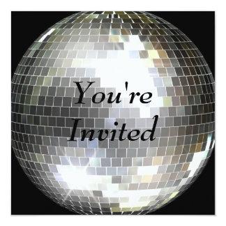 Vous êtes invités - boule de disco carton d'invitation  13,33 cm