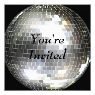 Vous êtes invités - boule de disco invitations