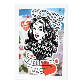 Vous êtes la femme de merveille que chacun carton d'invitation 8,89 cm x 12,70 cm