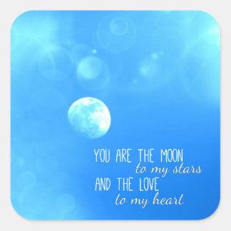 Vous êtes la lune à mes autocollants d'étoiles