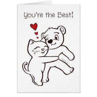 Vous êtes la meilleure carte de Saint-Valentin de