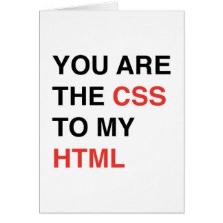 Vous êtes le CSS à mon HTML Carte De Vœux