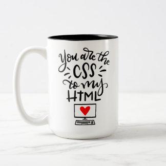 Vous êtes le CSS à mon HTML, main marquée avec des Tasse 2 Couleurs