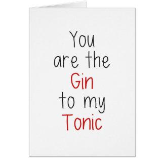 Vous êtes le genièvre à mon tonique carte de vœux
