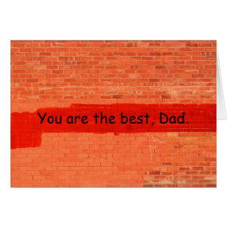 """""""Vous êtes le meilleur, fête des pères de papa"""" Cartes"""
