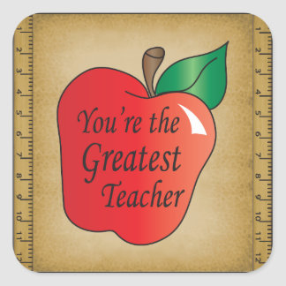 Vous êtes le plus grand professeur sticker carré