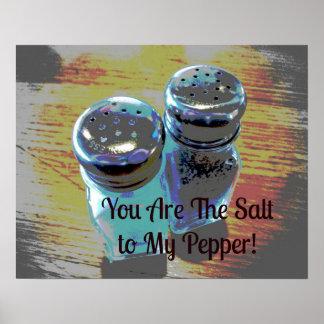 Vous êtes le sel à mon affiche de poivre