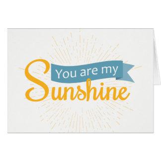 Vous êtes ma carte vierge du soleil  