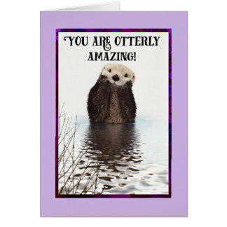 Vous êtes Merci mignon extraordinaire de loutre Carte De Vœux