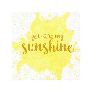Vous êtes mon art de mur de soleil toile
