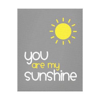 Vous êtes mon décor gris d'art de crèche de soleil toiles
